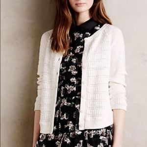 NEW MOTH Stitched Stripe Cardigan White ivory